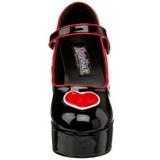 Czarne 11 cm QUEEN-55 buty damskie na wysokim obcasie