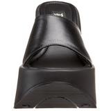 Czarne 13,5 cm DYNAMITE-01 Platformie Klapki Damskie