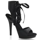 Czarne 13 cm Fabulicious LIP-194 Platformie buty na szpilkach