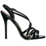 Czarne 13 cm Pleaser AMUSE-13 sandały na obcasie
