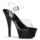 Czarne 15 cm Pleaser KISS-208 Platformie buty high heels