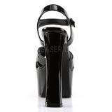 Czarne 16,5 cm CANDY-40 buty damskie na wysokim obcasie