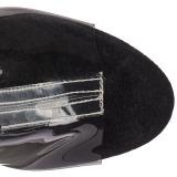 Czarne 18 cm ADORE-1017SRS botki z frędzlami na wysokim obcasie