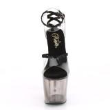 Czarne 18 cm LOVESICK-712T pleaser sandały z gorset obcasy