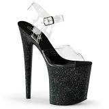 Czarne 20 cm Pleaser FLAMINGO-808MG blasku buty na wysokich obcasach