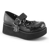 Czarne 6 cm DEMONIA SPRITE-05 Platformie Gotyckie Obuwie