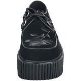 Czarne 7,5 cm CREEPER-219 Platformie Creepers Damskie