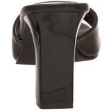 Czarne 8,5 cm ROMANCE-301-2 Klapki Obcasy dla Mężczyzn