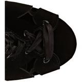 Czarne Aksamit 13 cm AMUSE-2020 Wysokie kozaki na szpilce