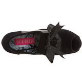 Czarne Aksamit 14,5 cm TEEZE-16 buty damskie na wysokim obcasie