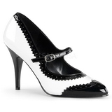 Czarne Biały 10,5 cm VANITY-442 Buty na wysokim obcasie szpilki