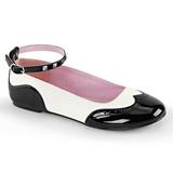 Czarne Biały STAR-22 buty baleriny damskie niski obcas