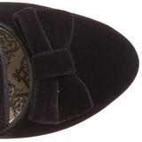 Czarne Botki Damskie 6,5 cm BORDELLO WHIMSEY-115