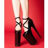 Czarne Lakierki 25,5 cm Pleaser BEYOND-087 buty bardzo wysoki obcas