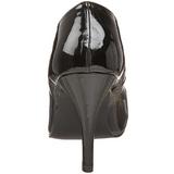 Czarne Lakierowane 10 cm DREAM-420 Szpilki Wysoki Obcas dla Mężczyzn