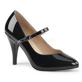 Czarne Lakierowane 10 cm DREAM-428 duże rozmiary szpilki buty