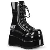 Czarne Lakierowane 11,5 cm BEAR-265 Demonia Botki Platformie