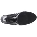 Czarne Lakierowane 11,5 cm FLAIR-480 szpilki dla mężczyzn