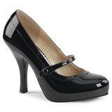 Czarne Lakierowane 11,5 cm PINUP-01 duże rozmiary szpilki buty