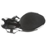 Czarne Lakierowane 13 cm COCKTAIL-509 Sandały na wysokim obcasie