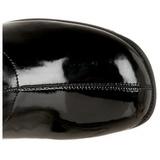 Czarne Lakierowane 5 cm RETRO-300 Wysokim Obcasie Kozaki Damskie