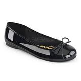 Czarne Lakierowane ANNA-01 duże rozmiary baleriny buty