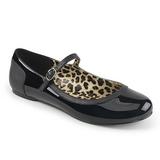 Czarne Lakierowane ANNA-02 duże rozmiary baleriny buty
