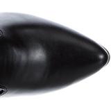 Czarne Matowy 13 cm SEDUCE-3050 Kozaki za kolano na obcasie