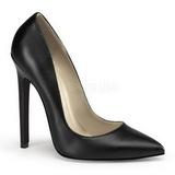 Czarne Matowy 13 cm SEXY-20 Buty na wysokim obcasie szpilki