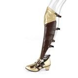 Czarne Matowy 6,5 cm MAIDEN-8830 cosplay kozaki za kolano