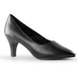 Czarne Matowy 8 cm DIVINE-420W Buty na wysokim obcasie szpilki