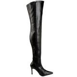Czarne Matowy 9,5 cm LUST-3000 Kozaki za kolano na szpilce