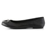 Czarne Matowy STAR-24 buty baleriny damskie niski obcas