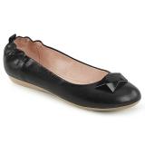 Czarne OLIVE-08 baleriny płaskie buty damskie