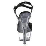 Czarne Przeźroczysty 15 cm Pleaser KISS-209 Wysokie obcasy platformie