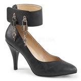 Czarne Skóra Ekologiczna 10 cm DREAM-432 duże rozmiary szpilki buty