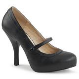 Czarne Skóra Ekologiczna 11,5 cm PINUP-01 duże rozmiary szpilki buty
