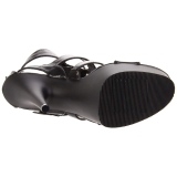 Czarne Skóra Ekologiczna 15 cm DELIGHT-658 pleaser buty na wysokie obcasy