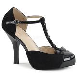 Czarne Zamszowe 11,5 cm PINUP-02 duże rozmiary szpilki buty