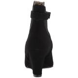Czarne Zamszowe 7,5 cm KIMBERLY-102 duże rozmiary botki damskie