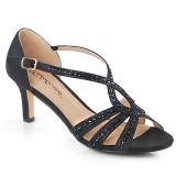 Czarne blasku 6,5 cm Fabulicious MISSY-03 sandały na obcasie