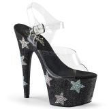 Czarne kryształ kamieńie 18 cm ADORE-708STAR buty do tańca pole dance