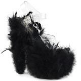 Czarne pióra 18 cm ADORE-708F buty do tańca pole dance
