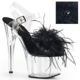 Czarne pióra 18 cm ADORE-708MF buty do tańca pole dance