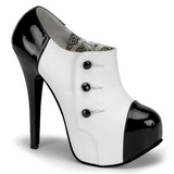 Czarny Biały 14,5 cm TEEZE-20 buty damskie na wysokim obcasie