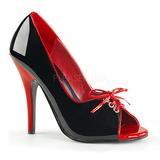 Czarny Czerwone 12,5 cm SEDUCE-216 buty damskie na wysokim obcasie