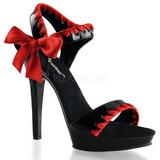 Czarny Czerwone 13 cm LIP-115 Platformie buty na szpilkach