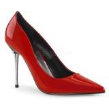 Czerwone 10 cm APPEAL-20 damskie szpilki z metalowym obcasem