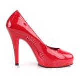 Czerwone 11,5 cm FLAIR-480 buty damskie na wysokim obcasie