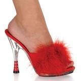 Czerwone 12,5 cm GLITZY-501-8 pior marabuta Klapki